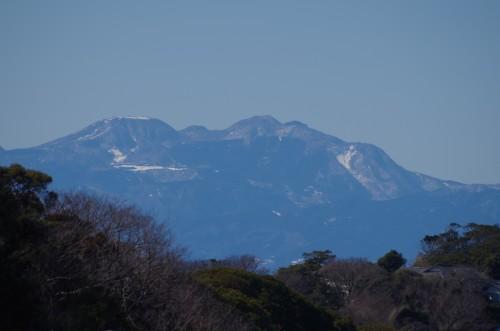 自宅からの山