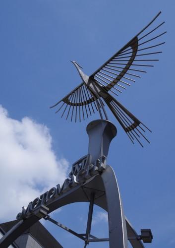 元町入口の鳥オブジェ